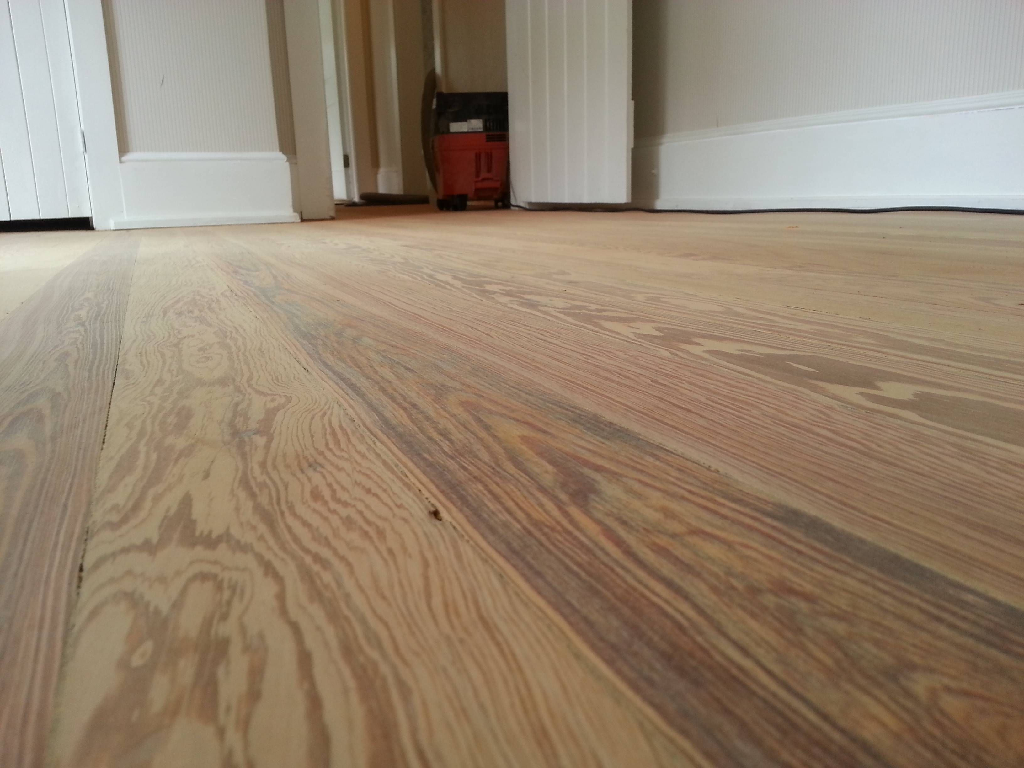 Freshly Sanded Heart Pine Floor 120 Year Old Floor Ready