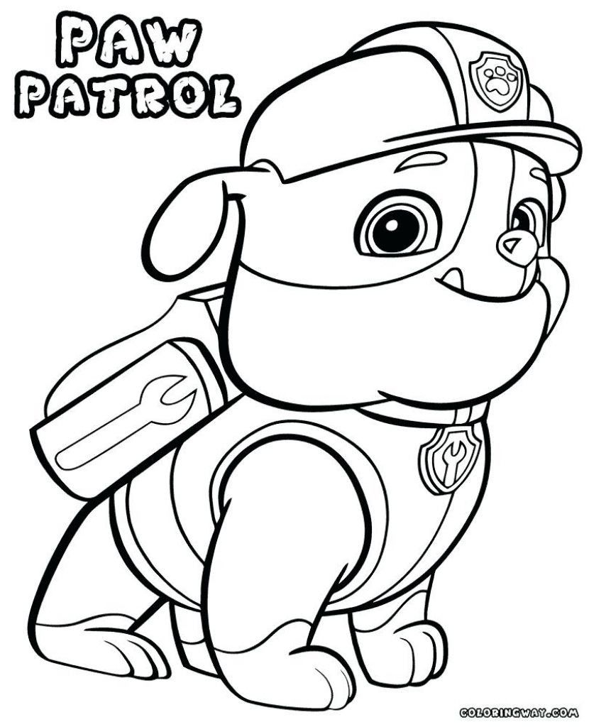 Rubble Paw Patrol Coloring Page Youngandtae Com In 2020 Paw Patrol Coloring Paw Patrol Coloring Pages Cartoon Coloring Pages