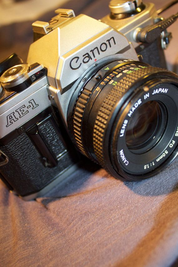 Vintage Canon Ae1 Camera With Data Back By Jordanvintagecameras 75 00 Film Cameras Camera Love Film