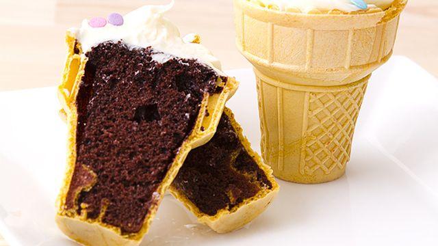 Bake Cupcakes In Ice Cream Cones Ice Cream Cone Cupcakes Recipe