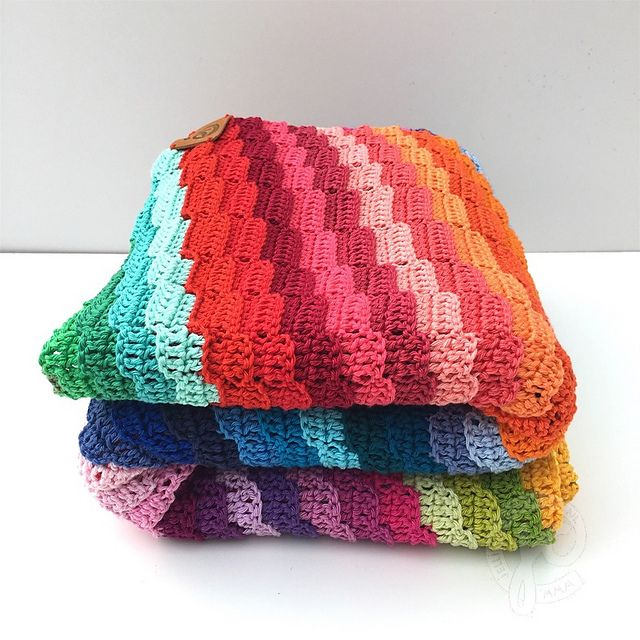 Ravelry: rainbow bargello blanket pattern by Jellina Verhoeff ...