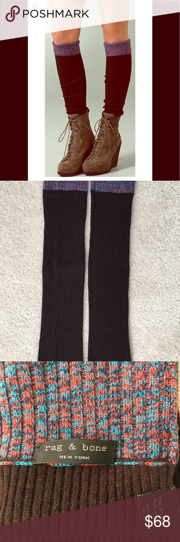 Rag & Bone Shoreditch Cashmere & Wool Leg Warmers