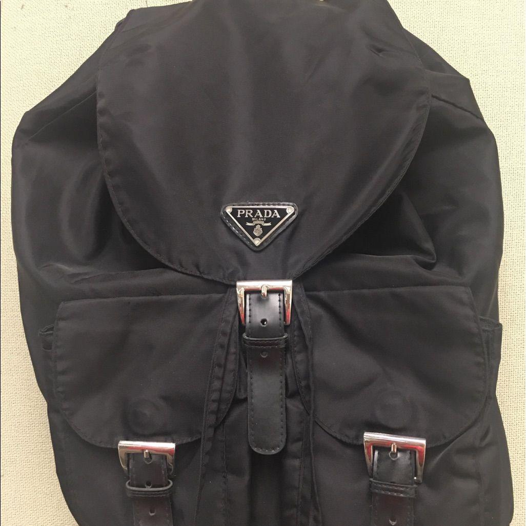 71f4a0e7eb24 Prada B8888 Vela Nero Black Backpack Purse