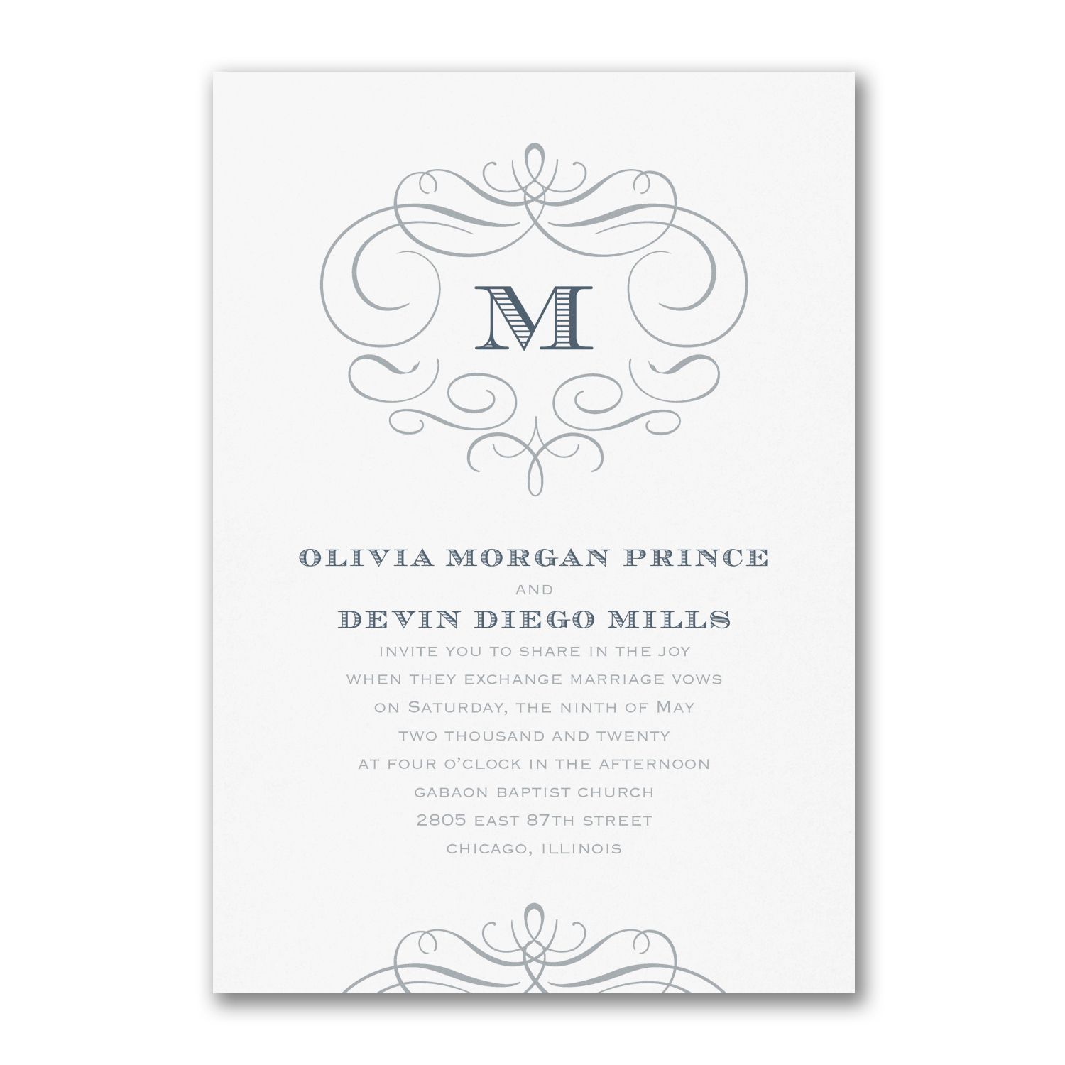 Passionate Monogram - Invitation. Available at Persnickety ...