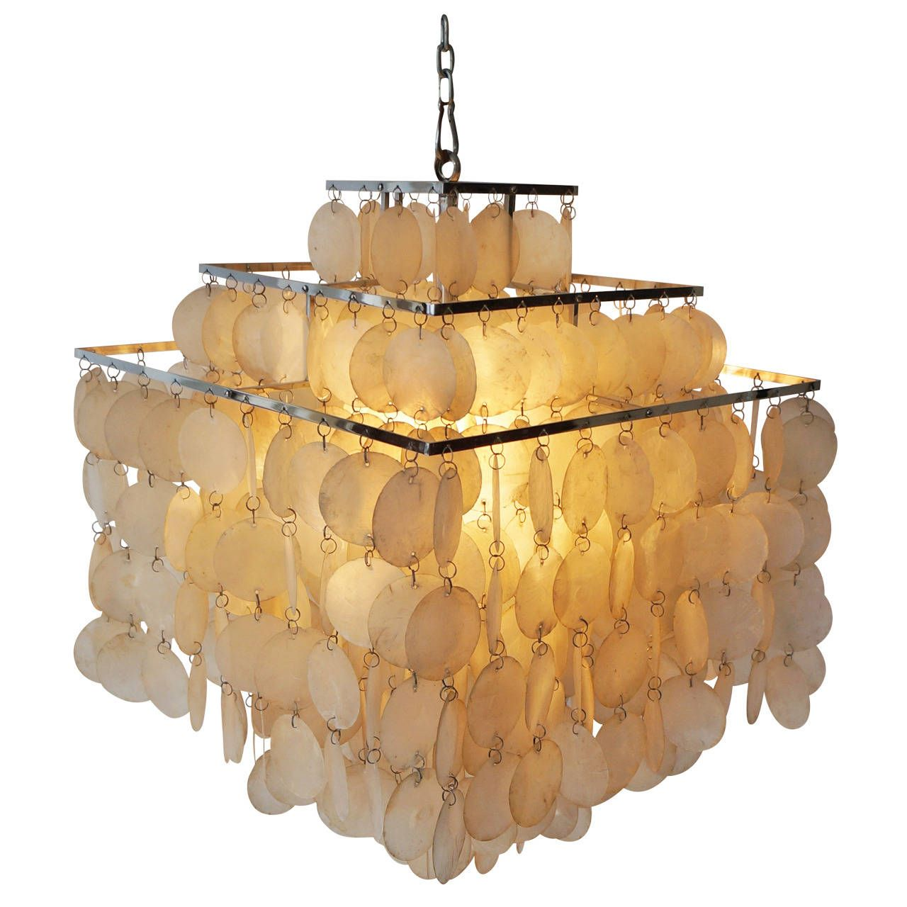 Capiz shell chandelier by verner panton from a unique collection capiz shell chandelier by verner panton from a unique collection of antique and modern chandeliers aloadofball Choice Image