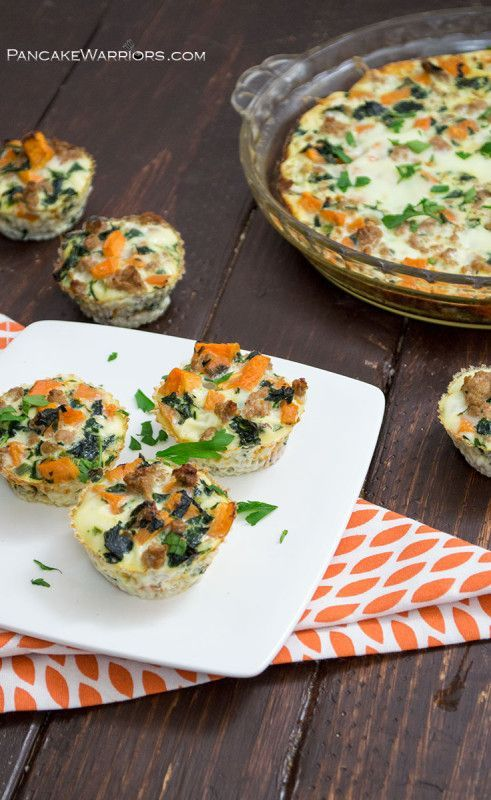 Start your day with this turkey sweet potato egg bake. Perfect for meal prep so you can just grab it and go on your busy mornings! Gluten free, dairy free, low fat, paleo and whole 30 approved!   www.pancakewarriors.com