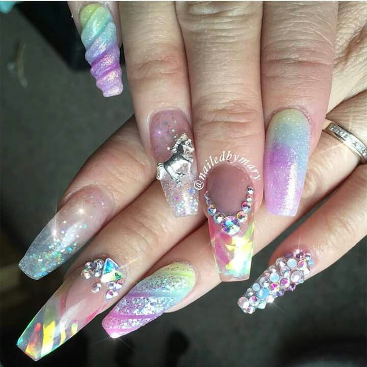 Unicorn Nails Unicorn Nails Designs Unicorn Nails Rainbow Nails