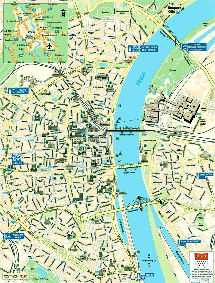 nice Map of CologneBonn Tourist Travelquaz Pinterest City