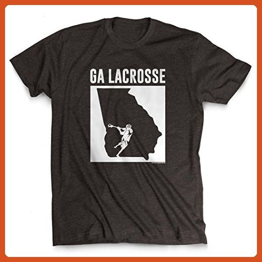 Georgia Lacrosse T-Shirt | Guys Lacrosse Tees by ChalkTalkSPORTS | Charcoal | Adult Large - Sports shirts (*Partner-Link)