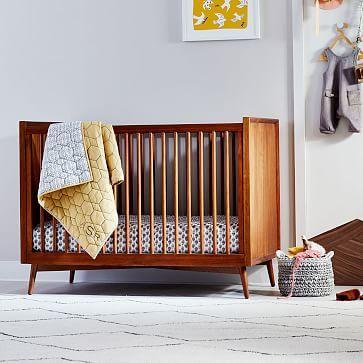 Mid Century Convertible Crib Acorn Mid Century Nursery