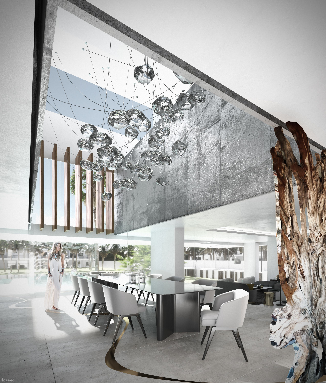 Doha villa qatar dinning room architecture design contemporary modern creato project architect villa luxury facade interior dinningroom