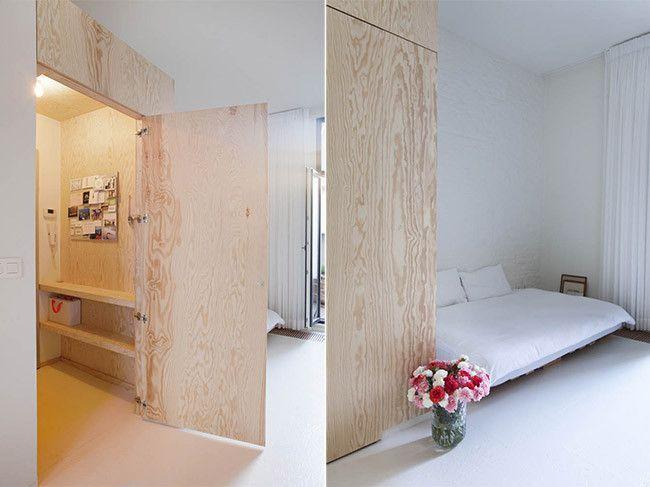 Decoraci n minimalista en un piso de 40 metros cuadrados for Decoracion de casas de 40 metros cuadrados