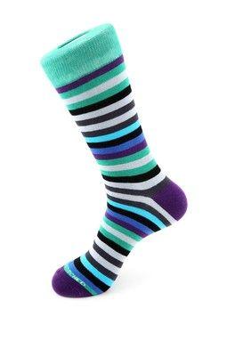 7 Color Stripe Socks Meias