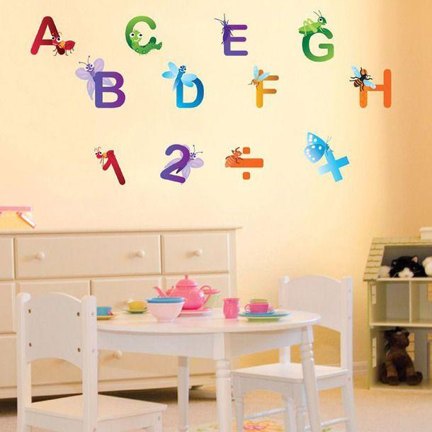 Alphabet Wall Stickers 교실 장식