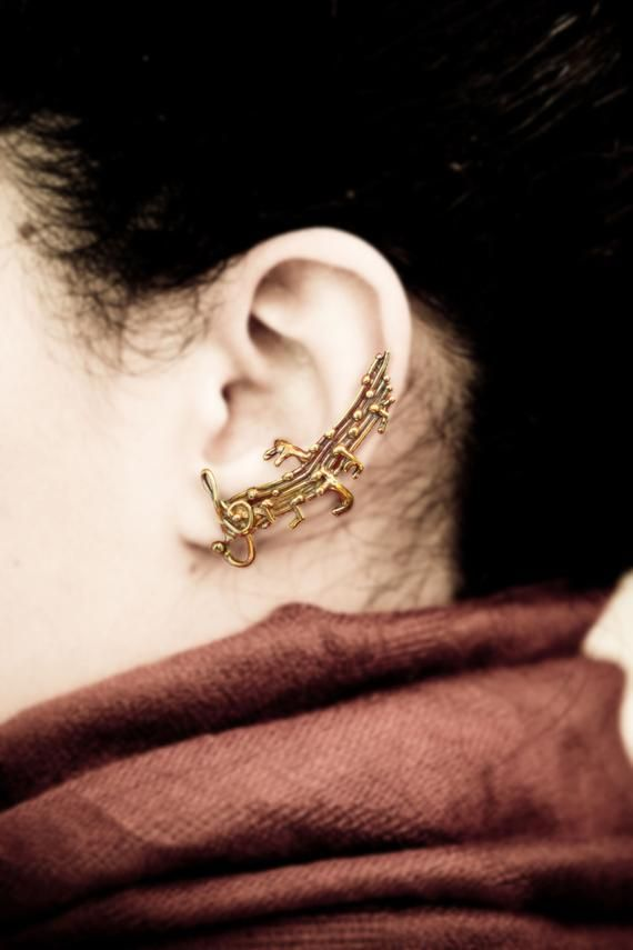 Sound Of Music Ear Cuff Musical Notes