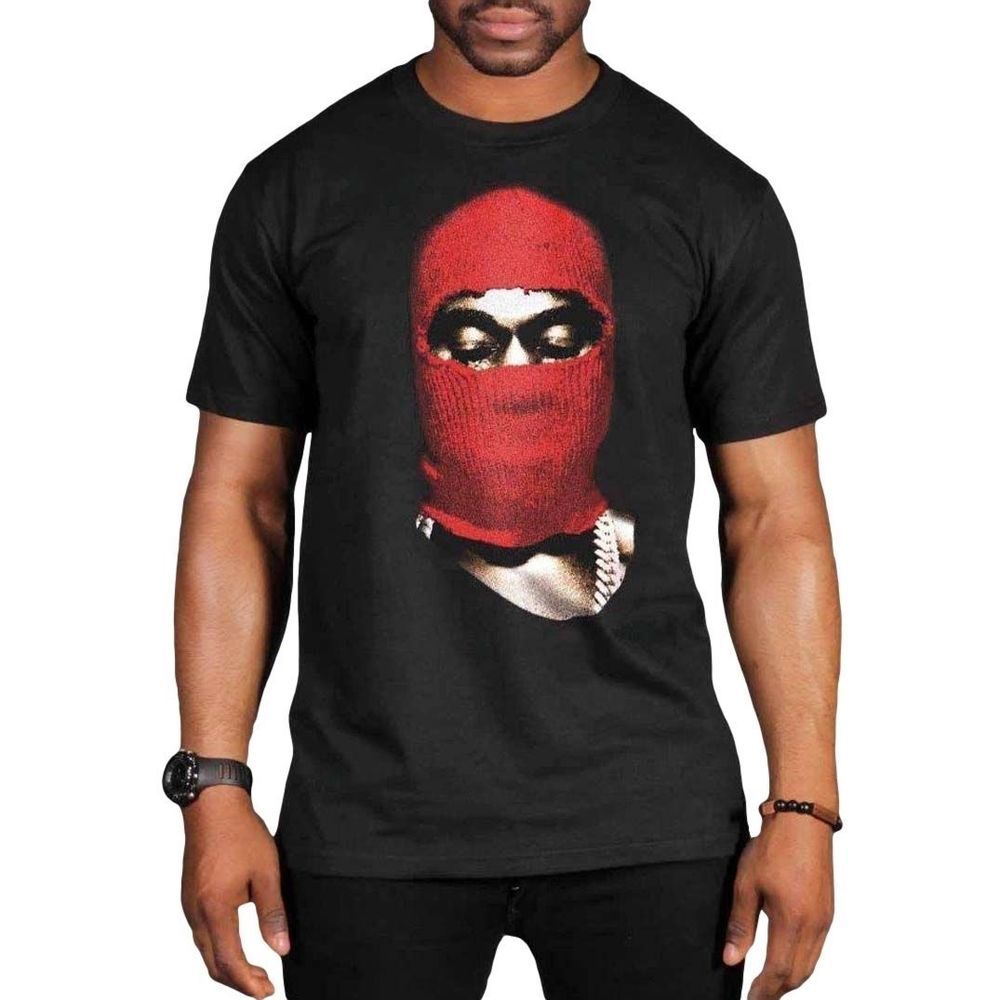 9e6747dccb79 Kanye West Red Ski Mask Yeezus Concert Tour Black T-shirt Pacsun Fear Of God  FOG #fashion #clothing #shoes #accessories #mensclothing #shirts (ebay link)