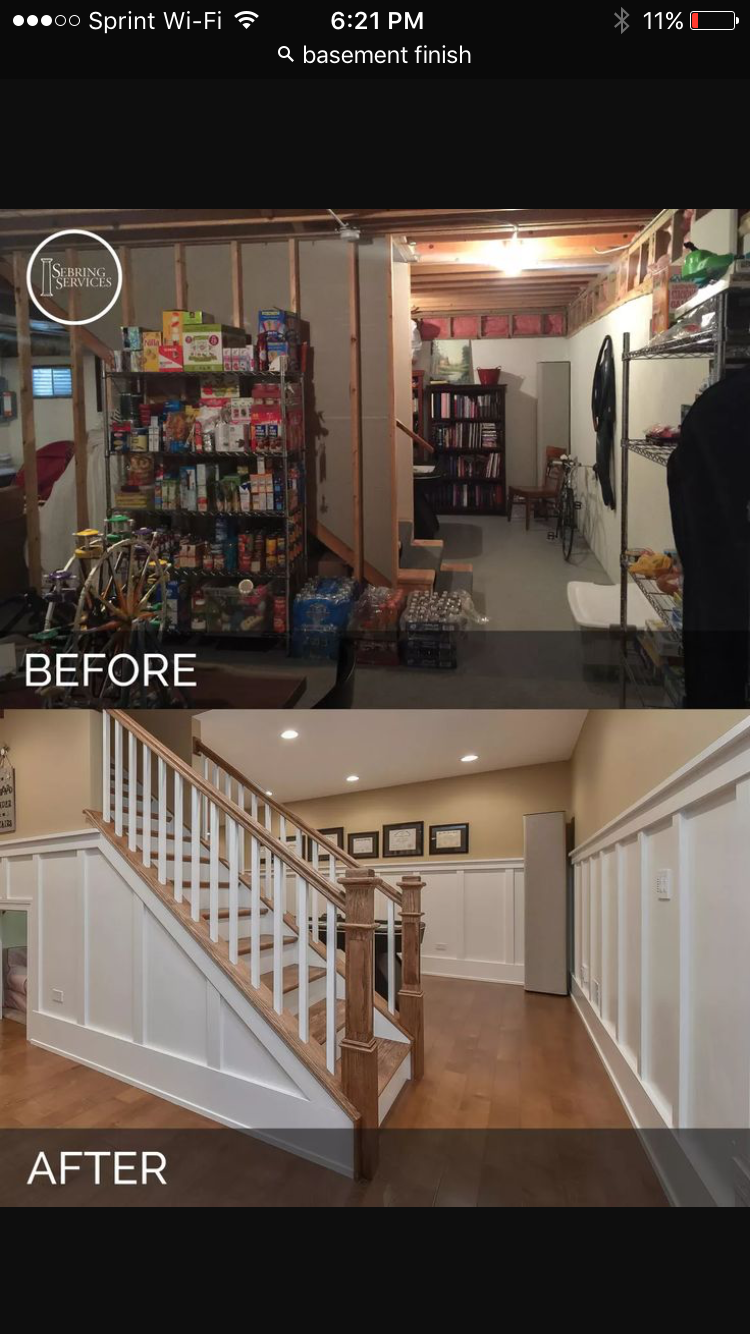 A Naperville Basement Before & After Pictures