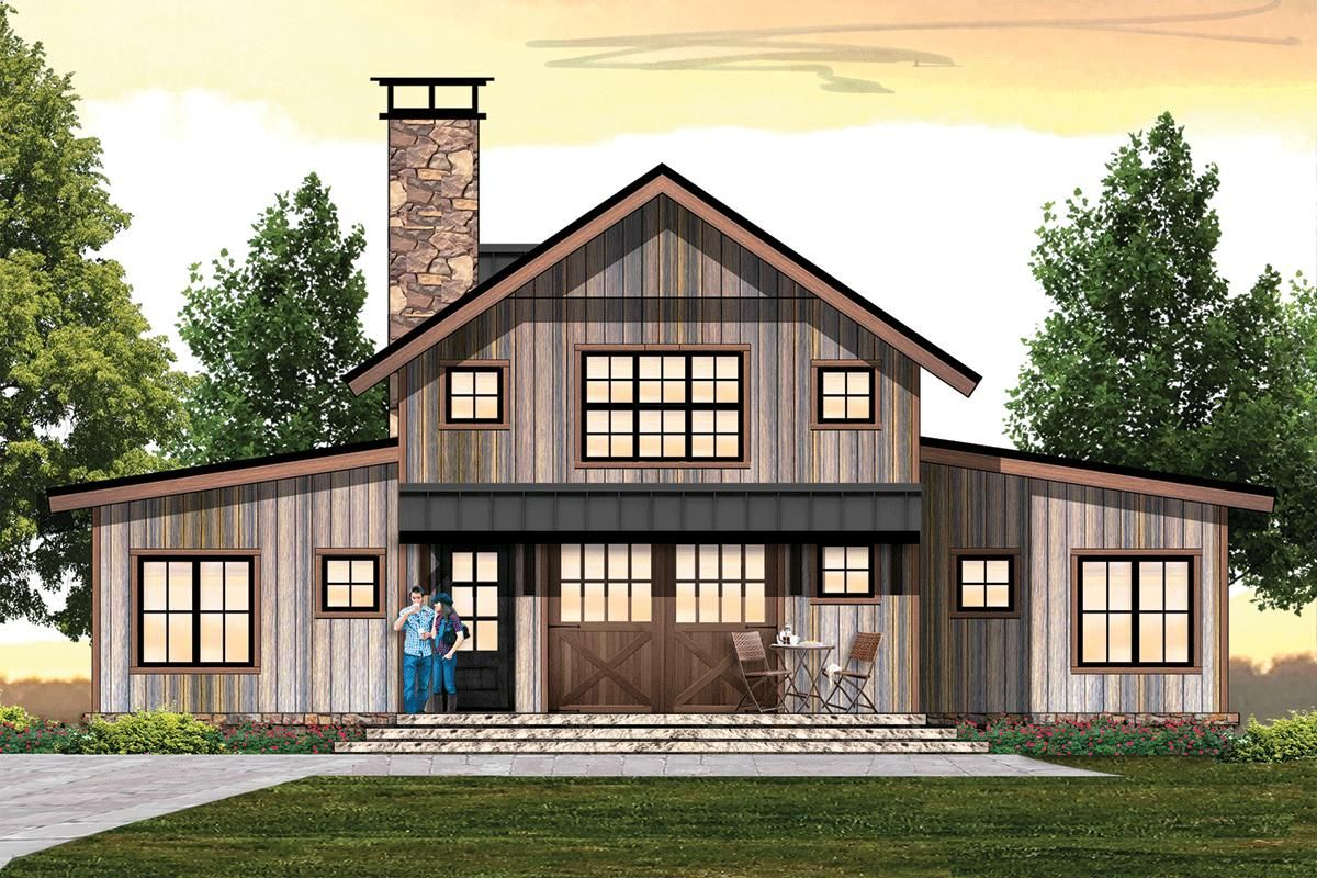 House Plan 8504 00166 Mountain Rustic Plan 2 362 Square Feet 3 Bedrooms 2 5 Bathrooms Vacation House Plans Rustic House Plans Barn Style House