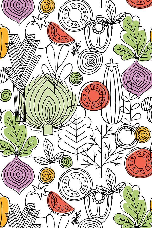 Vegetables illustration by adehoidar. Hand illustrated