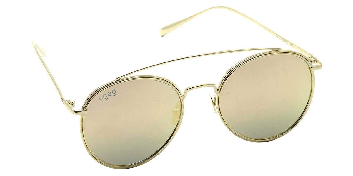 Buy Now I-GOG Pink Mirror Medium 49mm Aviator Sunglasses IG-2022-GL-PKM Online : India