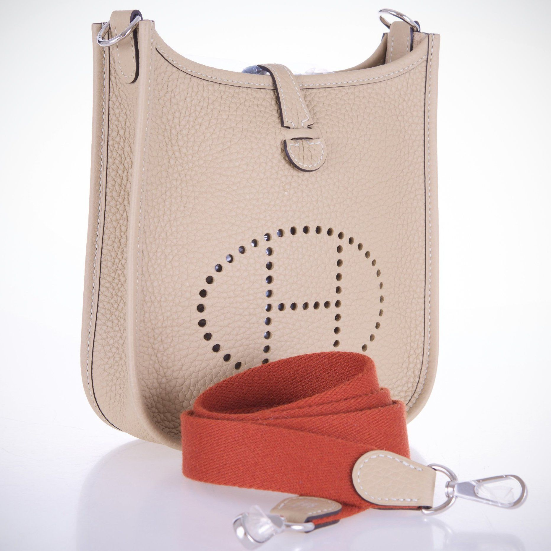 Fancy - Hermes Evelyne TPM New Color Trench Beige Mini Amazone Strap Hermes  Bags 164665f9f