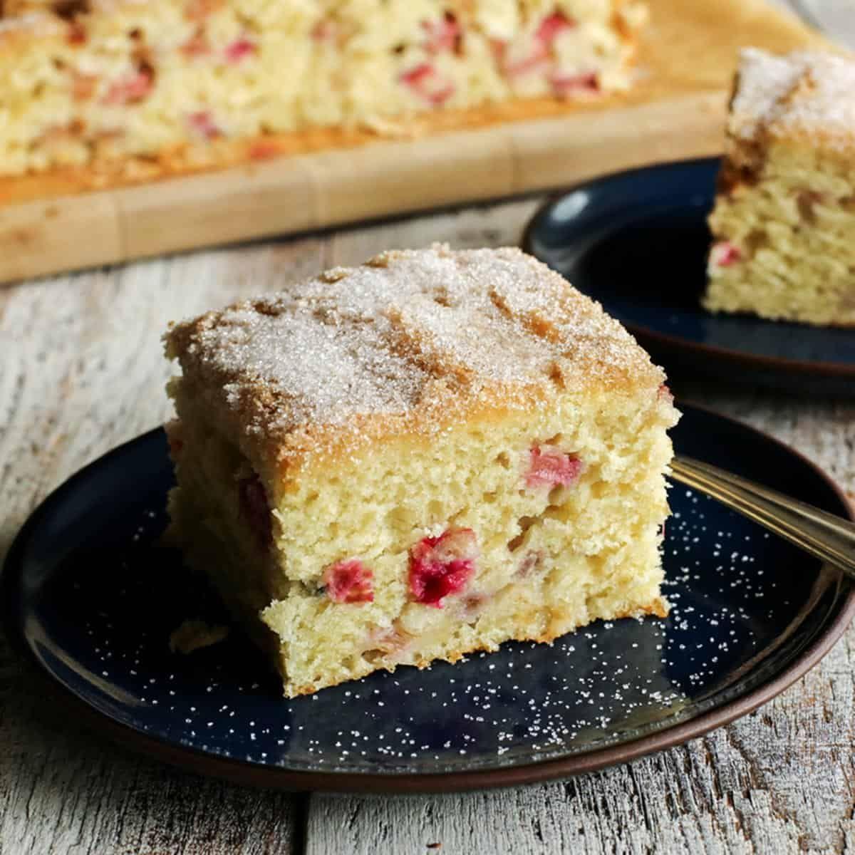 Rhubarb Sour Cream Coffee Cake Recipe Rhubarb Cake Recipes Coffee Cake Recipes Sour Cream Coffee Cake