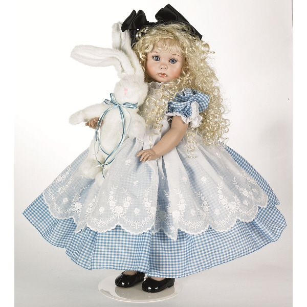 "LINDA RICK PORCELAIN DOLL* ALICE IN WONDERLAND * 24"" NEW 2012   eBay"