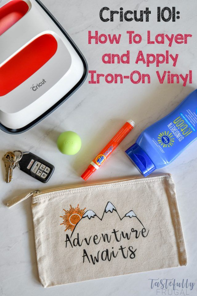 How To Use Cricut IronOn Vinyl is part of Cricut, Cricut iron on vinyl, Iron on cricut, Iron on glitter vinyl, Iron on vinyl, Cricut projects vinyl - IronOn Vinyl can be used on many different mediums  This project shows you how to layer different types of ironon vinyl and how to apply it to a canvas bag with the new EasyPress 2  IronOn vinyl is my FAVORITE type of vinyl to use! Not only is it the easiest vinyl to work with     Read More about How To Use Cricut IronOn Vinyl