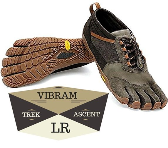Vibram Trek Ascent LR - Perfect barefoot running shoe for rocky,  mountainous terrains and also