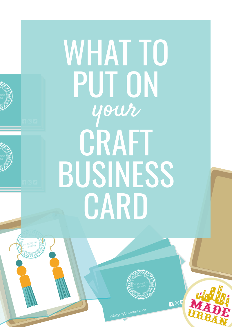 What To Put On A Craft Business Card Made Urban Craft Business Craft Business Cards Etsy Business Cards
