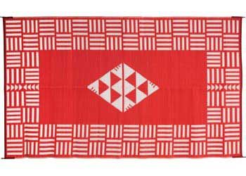 A Woven Floor Mat Made From Recycled Plastic Excellent For Outside Raranga Outdoor Rectangular