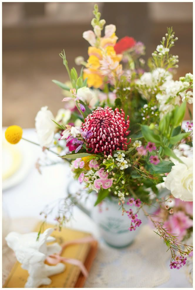 Country Chick wildflower arrangements. Colorful and carefree!