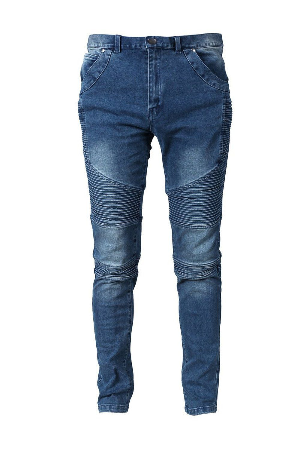 f7fea5e0c35 Moonwalk Men`s Skinny Slim Denim Washed Hip Hop Ripped Biker Jeans Pants at  Amazon Men s Clothing store