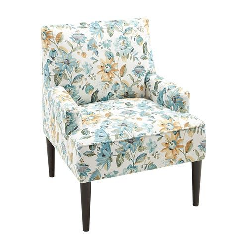 Best Lily Blue Floral Accent Chair Floral Accent Chair 400 x 300