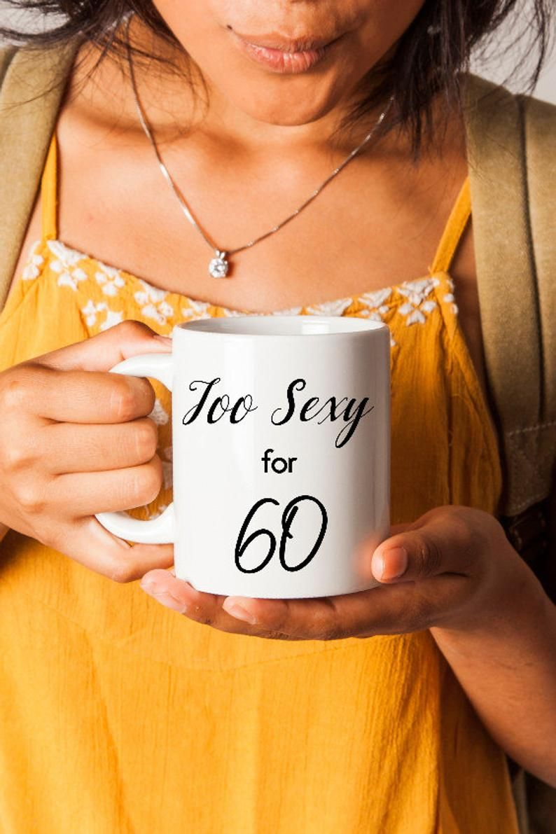 60th Birthday Gag Gift For Her, 60th Funny Birthday Coffee