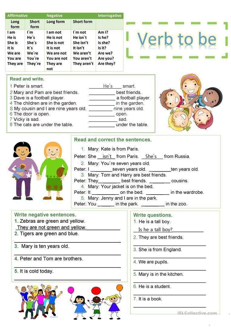 3 Printable Esl Worksheets Verbs Verb To Be Worksheet Free Esl Printable Worksheets Made By Verb Worksheets Grammar Worksheets Free Grammar Worksheet