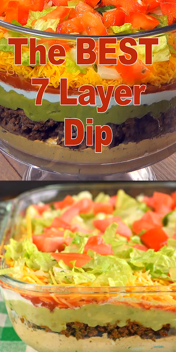 7 Layer Dip Video Layered Dip Recipes 7 Layer Dip Recipe Dip Recipes