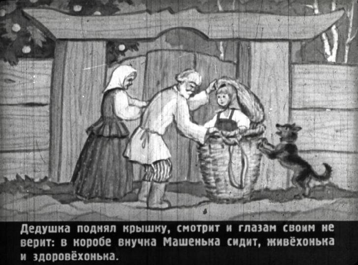 Russkaya Skazka Masha I Medved Diafilm 1951 Smotret I Chitat Skazku Russkaya Skazka Diafilm Skazki Detskij Zhurnal