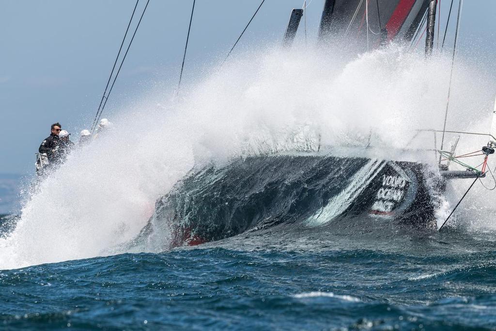 Volvo Ocean Race Shk Scallywag Dips The Waves At Menorca 2017 Volvo Ocean Race Sail World Race Around The World
