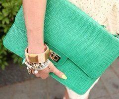 Green Hand Purse