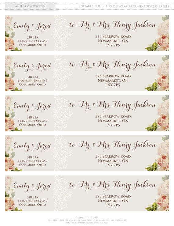 Rustic Address Labels Printable Instant Download By Ameliycom Wedding Invitations Labels Addressing Wedding Invitations Wedding Address Labels