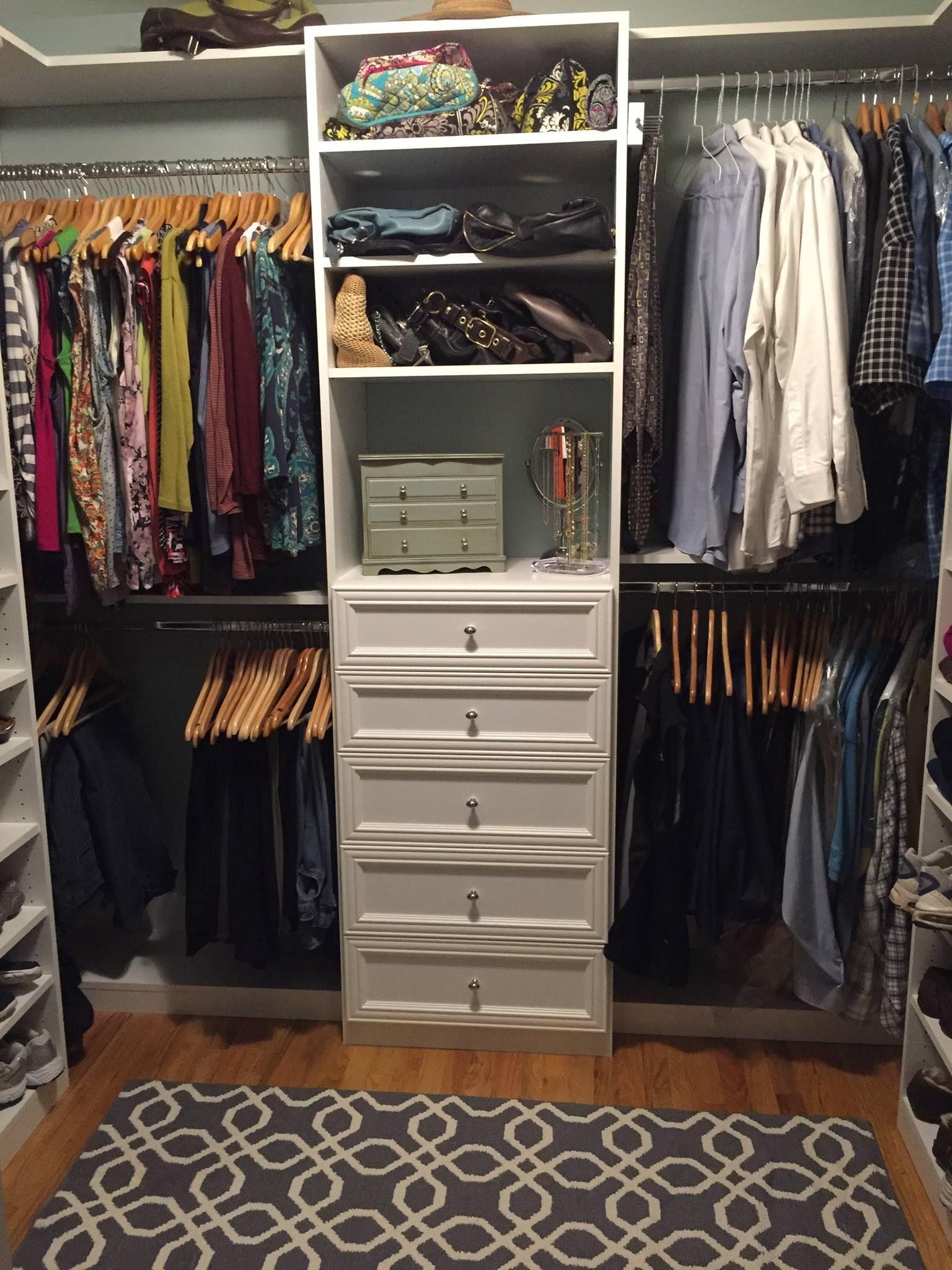 A Beautifully Organized And Designed White Melamine Walk In Closet Designed  By Senior Designer Ignez