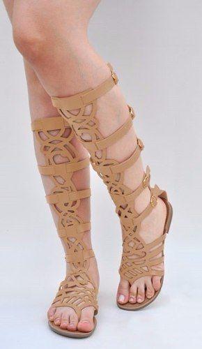 44306e37c9 sandálias gladiadoras laser alta renda Sandalia Feminina Rasteira