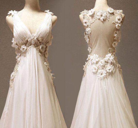 Custom make Vintage Wedding Dress A LINE Bridal Gown Bridesmaid Lace ...