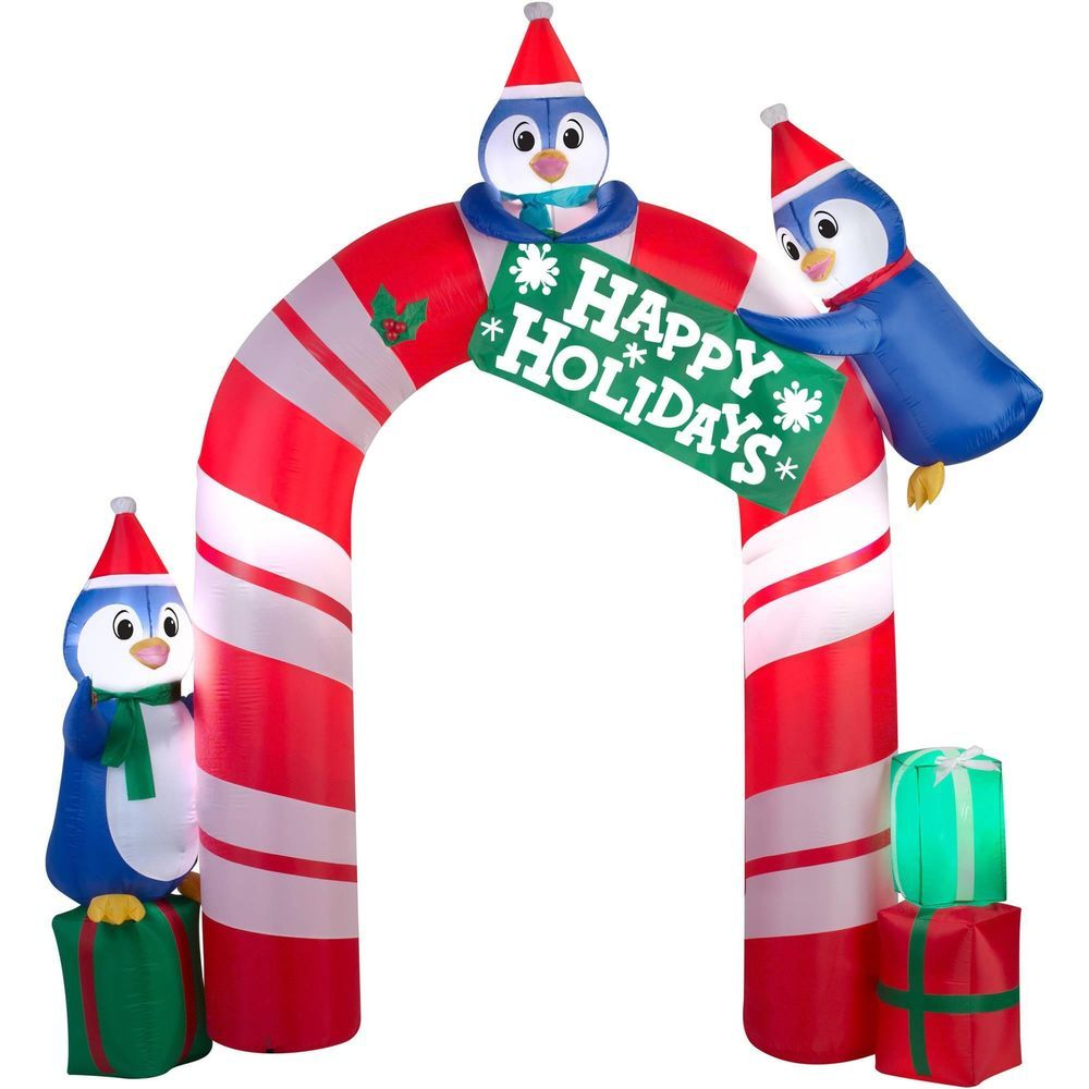 outdoor christmas inflatable airblown inflatables penguin archway yard decor gemmyairblown - Outdoor Christmas Inflatables