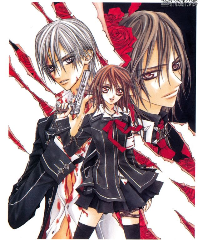 Cover of the Vol.1 Vampire Knight Manga!
