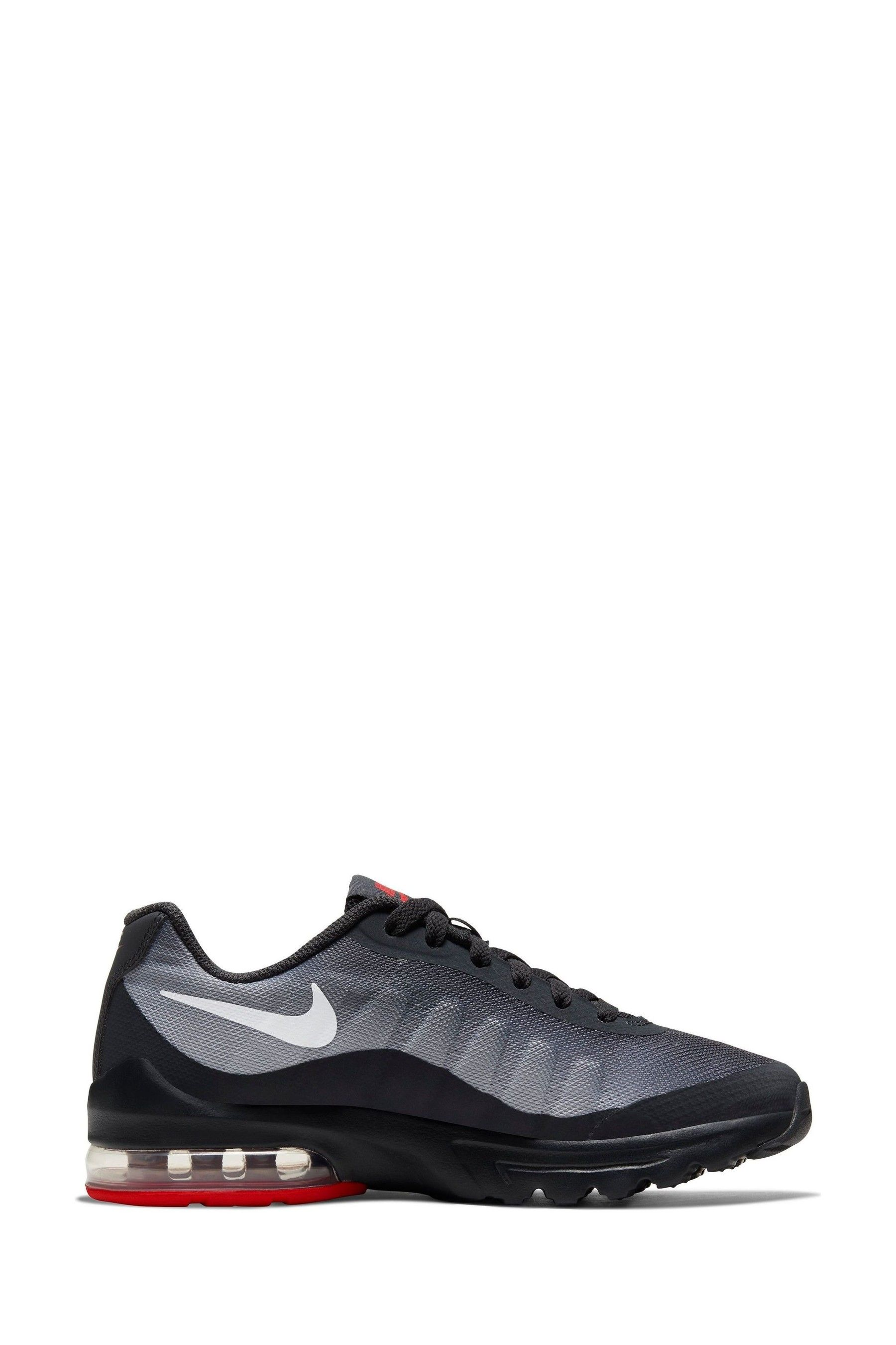 Boys Nike BlackWhite Air Max Invigor Youth Trainers Black