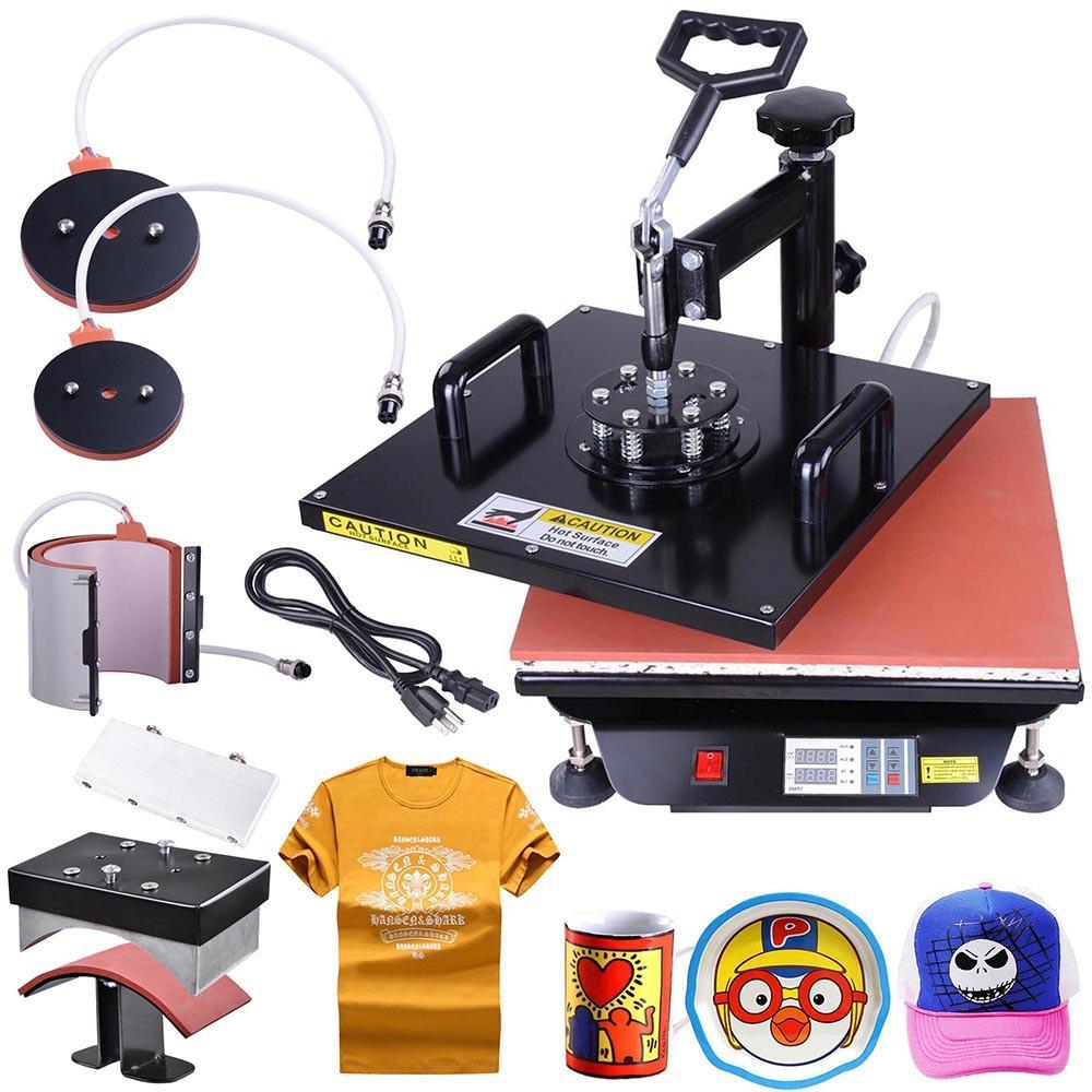 TheDIYOutlet 5in1 15x15 Heat Press Transfer Sublimation Machine T-shirt Mug  Best heat press
