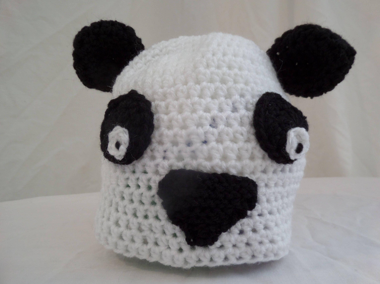 Hand Crochet Panda Hat (Baby, Toddler, Child) | Crochet panda, Panda ...