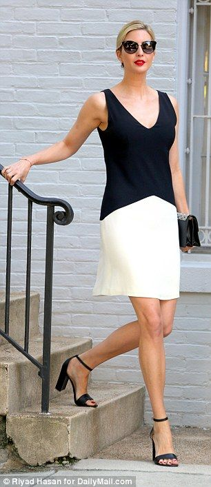 1d6b5e8e090 Ivanka Trump wears short dress and a red lip in hot D.C. weather ...